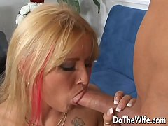 Very sexy wife takes fat dick