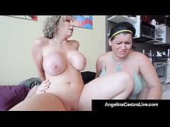 Cuban Queen Of BBW Angelina Castro Steals Sara Jay's Cock!