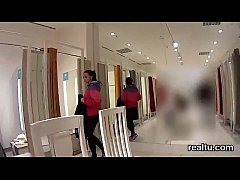 Glamorous czech chick is seduced in the shopping centre and pounded in pov