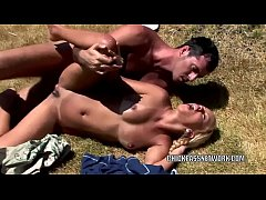 Barbie Banks has anal sex in the grass