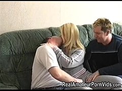 blonde amateur fucked by 2 guys