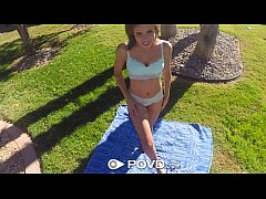 HD POVD - Hot young Natasha White gets pounded under the sun