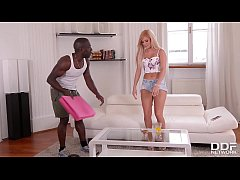 The Yoga Instructor - Huge Black Dick Crams Shaved Tight Pussy