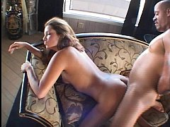 Sexy brunette with nice naturals gets her pussy pounded