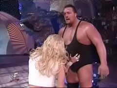 WWE - Rare Celebrity Nude WWF - WWE Divas Torrie Wilson yanks down Stacy Keibler s skirt