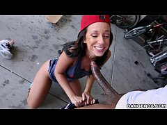 Babe Jada Stevens knows how to handle a Big Black Dick