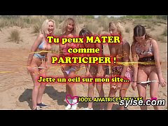 Lesbian milfs and teens on beach - amateurs compilation