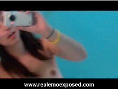 Nude emo Becka solo cellphone video
