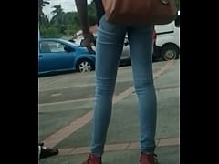 candid ebony teen tight jeans