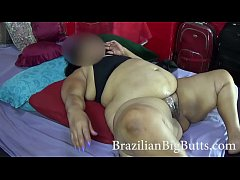 SSBBW big belly bouncing in missionary position