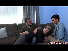 Gay stepdad fucking the twink exchange student