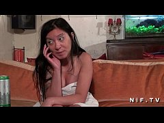 Dark haired asian french slut with tattoo's gets her ass hammered