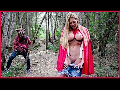 BANGBROS - Busty Blonde Lexi Lowe Runs Into The Big Bad Wolf In The Woods!