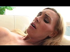 Hot busty babes Stacey Sexton, Tanya Tate are licking each other's snatches on the sofa