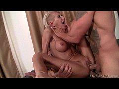 Awesome blonde milf dp