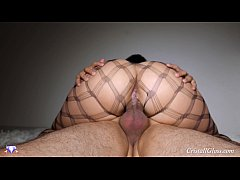 MILF Suck Cock and Big Ass Riding Closeup - Cristall Gloss