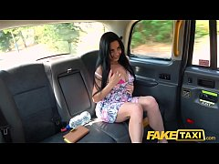 Fake Taxi Tight anal fuck for sexy Spaniard after back seat sexy blowjob