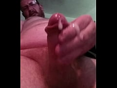 Stroking my intact penis for your entertainment!