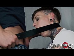 Sexy German MILF with tons of tattoos fucked by a big cock