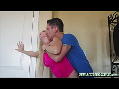 Sex hungry MILF stepmom welcomes stepson with a doggy fuck