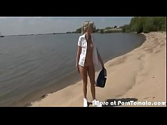 Fucking a german teen by the beach