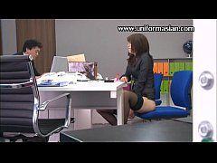 Asian sexy office woman masturbating sex