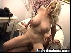 Busty Heather riding on white cock