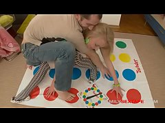 Twisted Stepfamily playing Twister