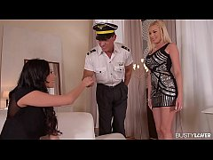 Glamour Banger - Threesome with Steward in Hotel Suite