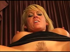 Screaming blonde enjoys a big cock in the ass