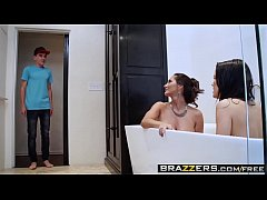 Boobylicious stepmom Megan joined Jordi and Ava in a hardcore fucking session