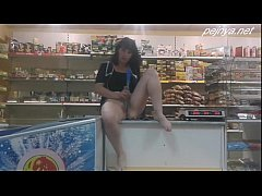 Ruusian masturbate in shop
