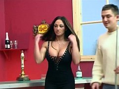 Cathy Barry Fucked on Snooker table by 2 guys!