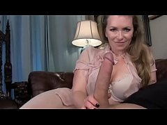 mistress t helps son jerk off