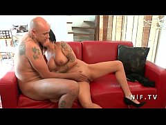 Amateur french couple with a busty milf getting sodomized for their casting