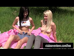 HD Lesbian teens masturbating outdoors