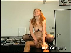 Red hair fucked in Office with boss