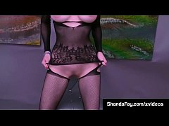 Horny Housewife Shanda Fay Wears Crotch less Body Stocking!