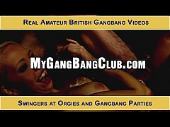 Real amateur gang bang