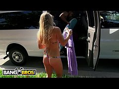 BANGBROS - Sexy Blonde Amateur Surfer, Sunny Stone, Fucked On The Bang Bus