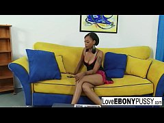 Ebony Babe Dior Loves white cock