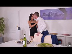 Voluptuous Sensation: Leggy Latina Milf Poked in Kitchen