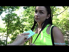 Public Agent Kittina Clairette gets creampied fucking outdoors