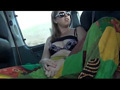 Girl spreads legs and play with her pussy while driving more at www.webcamhotties.net
