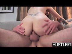 Inked babe Natasha Starr analled hard by sisters boyfriend