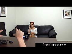 Fine Ass Redhead Sheehan Auditions for Backroom Casting Couch
