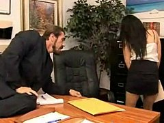 Big Titted Boss Teasing Her Horny Employee