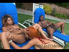 black threesome fuck with hot sexy bitches