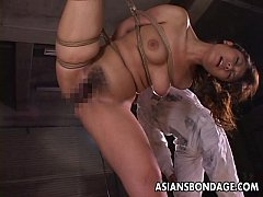 Clip sex Dudes rope her up and she gets toy fucked