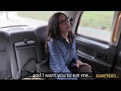 Damn nerd Spanish babe gets fucked anal in the cab